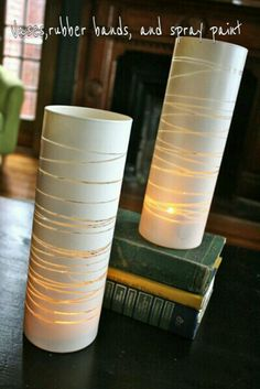 Diy vase ~ these would look great inside or out !