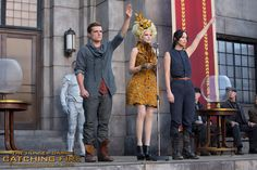 The embodiment of hope where there is none. Josh Hutcherson, @Elizabeth Lockhart Lockhart Lockhart Banks and Jennifer Lawrence in The Hunger Games: #CatchingFire. (Photo credit: Murray Close)