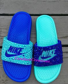Hey, I found this really awesome Etsy listing at https://www.etsy.com/listing/280491024/mismatch-nike-slides