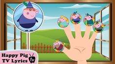 Pig and Family \ Rhymes Ly. Finger Family, Family Guy, Rhymes Lyrics, Happy Pig, Nursery Rhymes, Photo And Video, Youtube, Fictional Characters, Early Elementary Resources