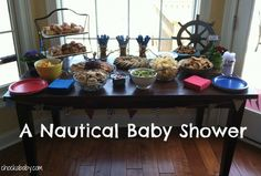 A Nautical Baby Shower and Giveaway! - Chockababy! | chockababy.com