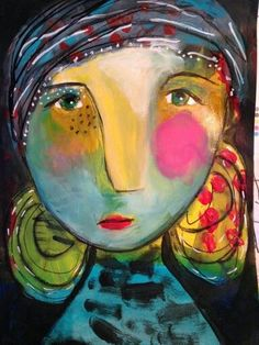 - – Juliette Crane's student work # Abstrakte Ma - Abstract Faces, Abstract Portrait, Portrait Art, Abstract Art, Illustration Art, Illustrations, Arte Popular, Naive Art, Whimsical Art