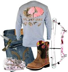 Pink Camo # Mossy Oak. I will wear this! And shoot that bow too!