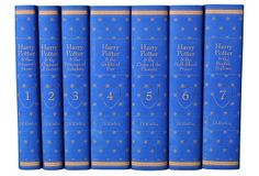 S/7 Harry Potter Ravenclaw Collection on OneKingsLane.com.  This set of all seven books in the Harry Potter series has custom book jackets in the colors of Ravenclaw house; all new hardcovers.