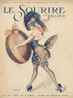 Illustration by Maurice Pepin For Le Sourire Easter 1918