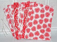 VALENTINESGift Bags with Doily Hearts by acraftingheart on Etsy