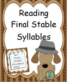 This reading packet provides 17 pages of the stable final syllable type word lists. Also, a master list of all the words is included as a quick reference. A stable final consonant is one of the six types of syllables in reading. Each list in this unit includes words using all the vowels with a final stable consonant.