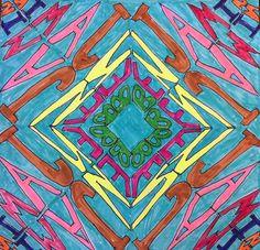 artisan des arts: Name kaleidoscope art - Grade 4/5/6