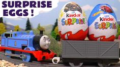 Thomas and Friends Kinder Surprise Eggs with Paw Patrol toy stories for ...