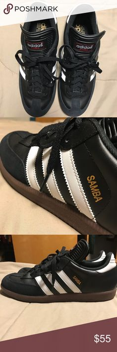 Adidas Samba Classic I bought these indoor soccer shoes a few weeks back and I wore them only 2 times. The reason I'm selling these is because I can't figure out what to wear them with and the I didn't like how it fit me. adidas Shoes Athletic Shoes