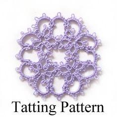 Tatting Pattern PDF Janessa Butterfly Motif by TataniaRosa