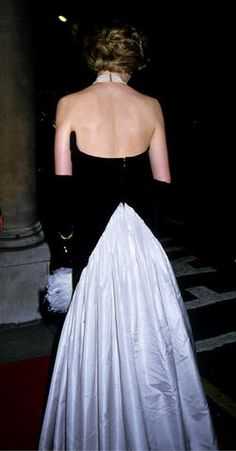December 12, 1985: Princess Diana attends the Worshipful Company of Fan Makers Banquet at Mansion House.