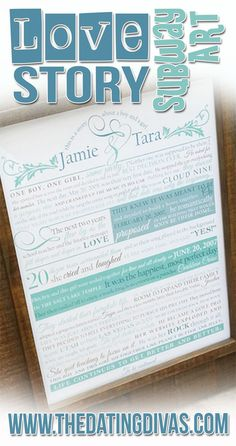 Such a sweet way to display your love story in your home!! www.TheDatingDivas.com