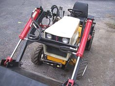 Craftsman Riding Mower 679621399990708438 - Gallery – Category: Customers Pics: Front End Loaders Source by pwheiden John Deere Garden Tractors, Yard Tractors, Small Tractors, Compact Tractors, Garden Tractor Attachments, Homemade Tractor, Tractor Loader, Mini Excavator, Cub Cadet