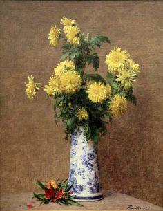 Yellow Chrysanthumums, by Henri Fantin-Latour (1879)