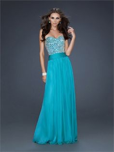 Strapless Sweetheart Neckline with Beadings Floor Length Chiffon Homecoming Dress HD1493  http://www.homecomingstore.com