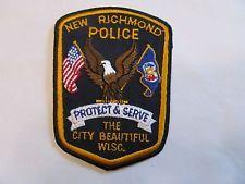 Wisconsin New Richmond Police Patch
