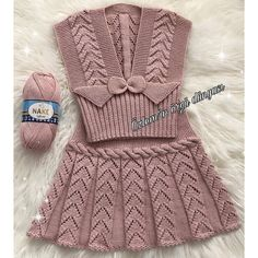 U Happy days . I wish you a nice week . - Nurcan Pelek - - U Happy days . I wish you a nice week . Knit Baby Dress, Knitted Baby Cardigan, Knitted Baby Clothes, Crochet Clothes, Crochet Patterns For Beginners, Baby Knitting Patterns, Knitting Designs, Baby Patterns, Knitting For Kids