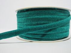 5 yards 3/8 Teal Velvet Ribbon Velvet Ribbon Ribbon by ichimylove