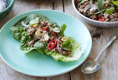 Em Rusciano's beef larb with roasted rice recipe - 9Kitchen