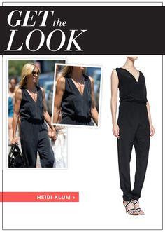 Heidi Klum's jumpsuit is perfect for summer and fall. Get it on SHEfinds.com.