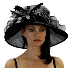 Silken Swirl Organza Hat with Curled Feather and Ribbon Accents in 4 Colors Hat Colors: Black Greatlookz,http://www.amazon.com/dp/B00BCPT076/ref=cm_sw_r_pi_dp_oB35rb18A3W1X6MJ