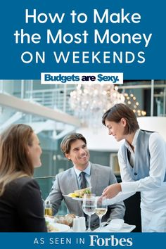 How to make the most money on weekends. Check out these tips to bring in more money for your finances today. Budget Template, Part Time Jobs, Money Saving Tips, Personal Finance, Over The Years, Making Ideas, Investing, How To Make Money, Sexy