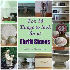 What To Look For At Thrift Stores {Intro to 31 days} - An Oregon Cottage