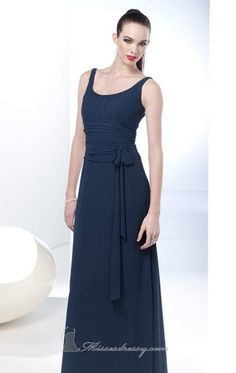 fb960847425d A-line Ruched Chiffon Sleeveless Dress By Alyce Bridesmaid [1274] Neckline,  Bodice