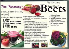 Red Beets! And please use those Beet Greens...(see below) Today is a good day to make one of the best healing tonics around. If you have a sluggish Liver or have troubles losing weight or a Gallbladder that is problematic, there is nothing more valuable than fresh Beet Juice. By adding the Beet Greens to the tonic, it accelerates the benefits by 100%. Organic please...