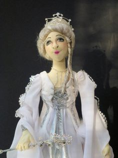 Fairy doll cloth art OOAK soft sculpture the by Tattermedallion, £85.00