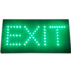 Bright Green Flashing LED Emergency Exit Light Store Shop Bar Sign Display 19x10 #AhhaProducts