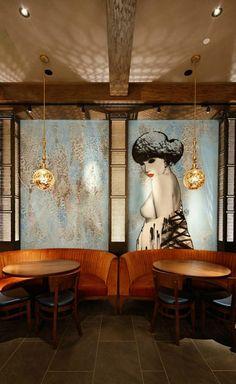 15 Stylish Modern Sofas In Astonishing Restaurant Interiors | Modern Sofas. Restaurant Interiors. Design Inspiration. #velvetsofas #brabbu https://www.brabbu.com/en/inspiration-and-ideas/world-travel/stylish-modern-sofas-astonishing-restaurant-interiors