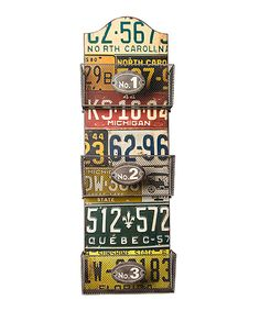 Look what I found on #zulily! License Plate Magazine Holder by Designs Combined Inc. #zulilyfinds