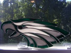 Philadelphia Eagles Stained Glass-Would love to have this with the green in red. Description from pinterest.com. I searched for this on bing.com/images