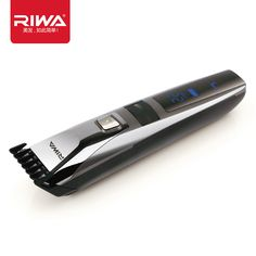 Riwa k3 방수 충전식 헤어 트리머 lcd 디스플레이 남성 쿨 헤어 트리머 블랙 한 pc 부착 빗 디자인 머리 트리머