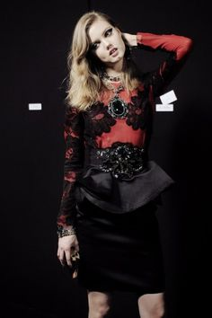 Love Lanvin's lace obsession and oversize jewelry