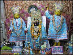 Altar of Sri Radha Govindaji Mandir, Vrindavana  Read more at www.vrindavana.org