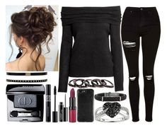 """""""Untitled #1654"""" by believe-dream-inspire ❤ liked on Polyvore featuring Topshop, Christian Dior, Ice, MAC Cosmetics, Free Press and Rimmel"""