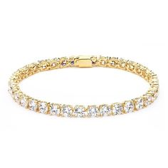 Shop My Jewellery Story MYJS Jazz Gold Plated Tennis Bracelet with Cubic Zirconia Free delivery on eligible orders of or more. Steel Jewelry, Jewellery Display, Ring Designs, Costume Jewelry, Jewelry Collection, Fashion Jewelry, Bling, Jewels, Diamond