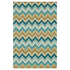 Add a pop of style to your den ensemble or living room seating group with this artfully crafted rug, featuring a hand-hooked design and a bold chevron motif....