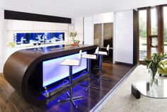 Modern Dinind Table With Glass Aquarium Backsplash Modern At The Behind Kitchen Backsplash Ideas, Make It Desirable by Your Own Taste Kitchen design