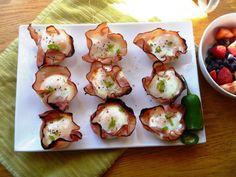 Spicy Eggs in Ham Baskets  #HealthyRecipeEcstasy