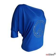 blaues weites Shirt mit einen ca 20 cm großen Peace mit gelben Steinen die einfach sehr geil Funkeln und Leuchten in der Sonne. http://www.redsilent.de/product_info.php/info/p107_shirt-blau--peace-forever-.html