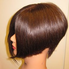 side view of a classic A line bob
