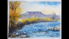 #painting #watercolour #art Paint with me. Autumn landscape with river. Watercolour Art, Autumn, River, Facebook, Landscape, Videos, Painting, Scenery, Fall Season