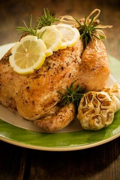 Lemon Pepper and Rosemary Roasted Chicken