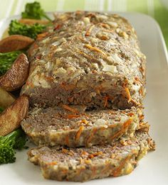 Combine Greek seasoning with carrots and feta cheese to give traditional meatloaf a makeover. Serve this recipe with oven fries if you wish.