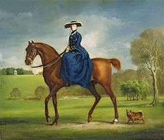 The Countess of Coningsby in the Costume of the Charlton Hunt  c.1760/61  George Stubbs