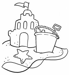 Sand Buckets Coloring Pages